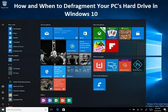 When to Defragment Your PC Hard Drive in Windows 10