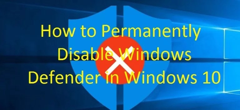 Disable Windows Defender Antivirus on Windows 10