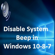 Disable System Beep in Windows 10