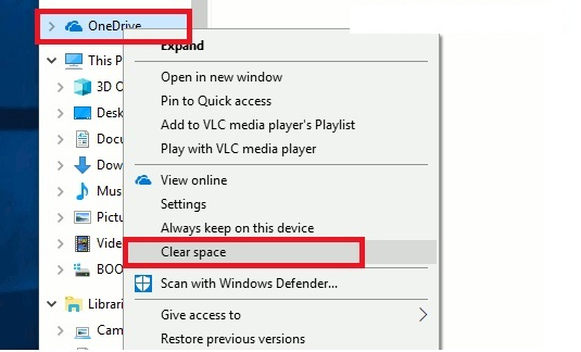 Save disk space in Windows 10 with OneDrive Files