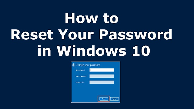 Reset Your Lost Window 10 Passwords